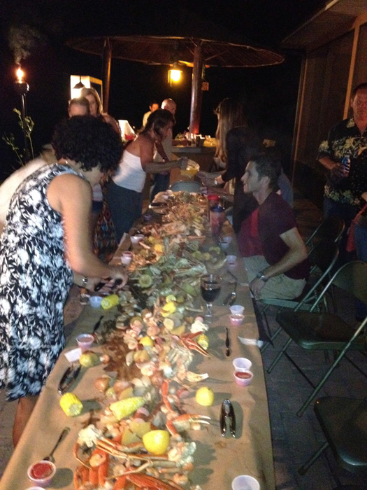 crab feast with the team